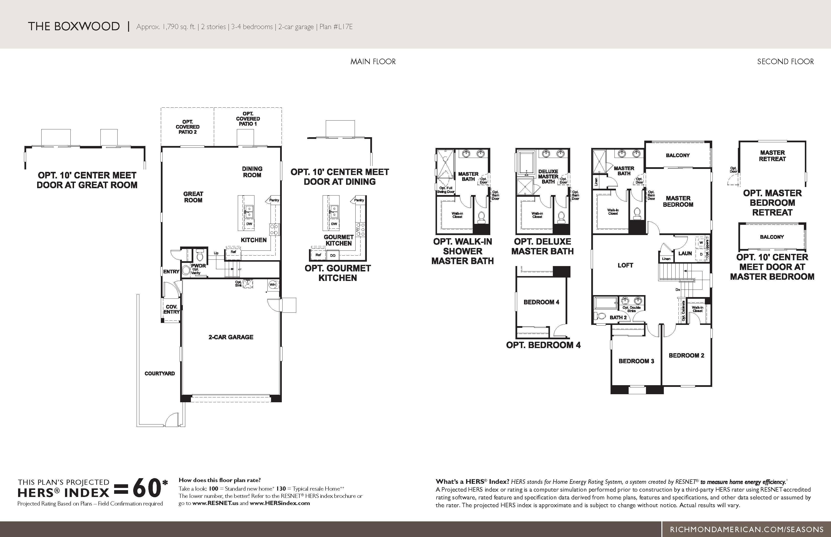 Floorplan for Boxwood
