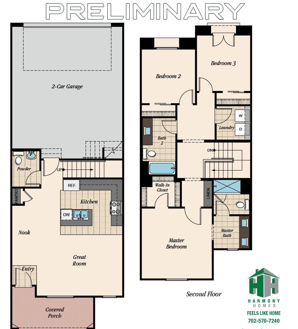 Floorplan for Plan 2
