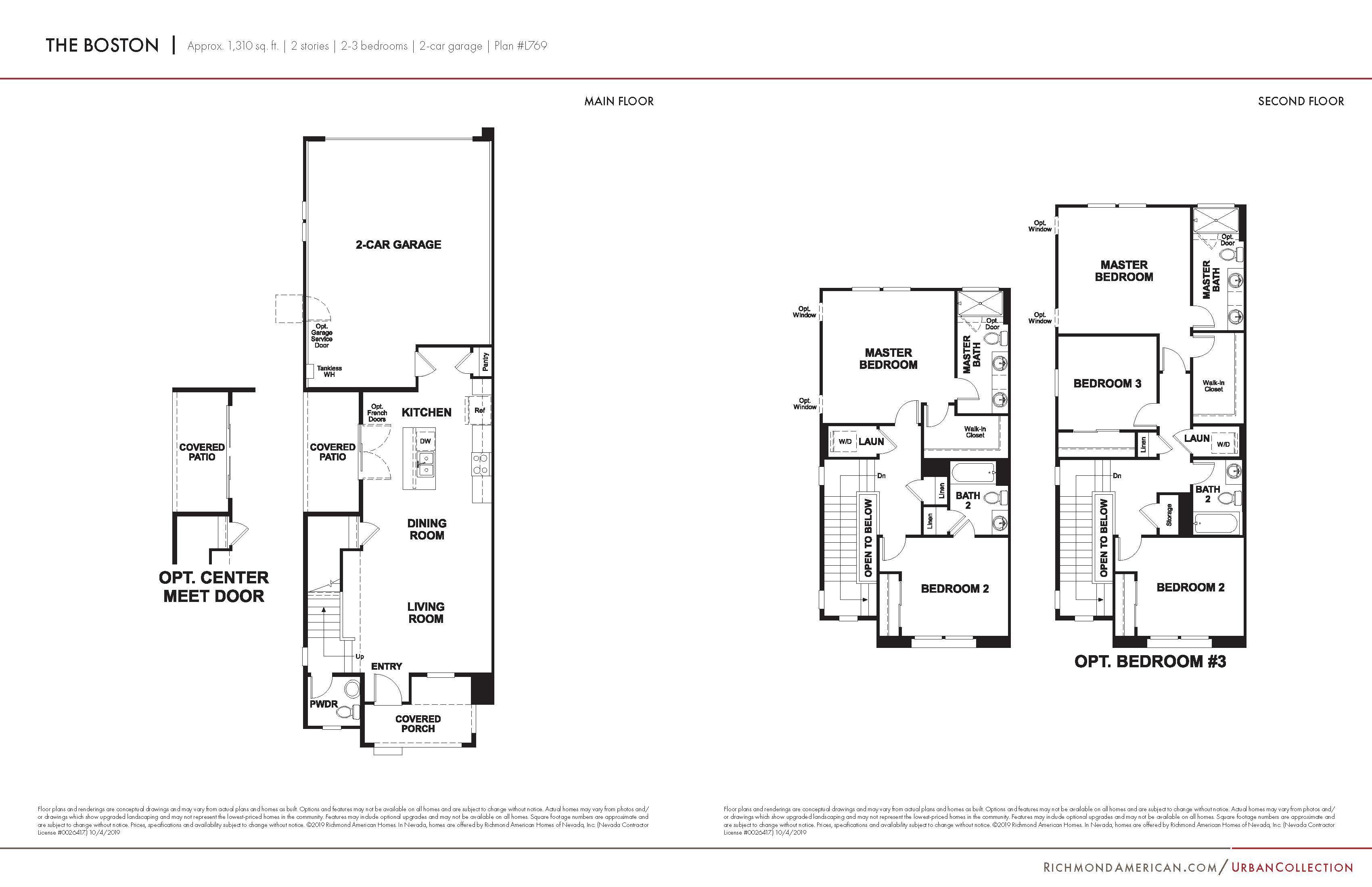 Floorplan for Boston