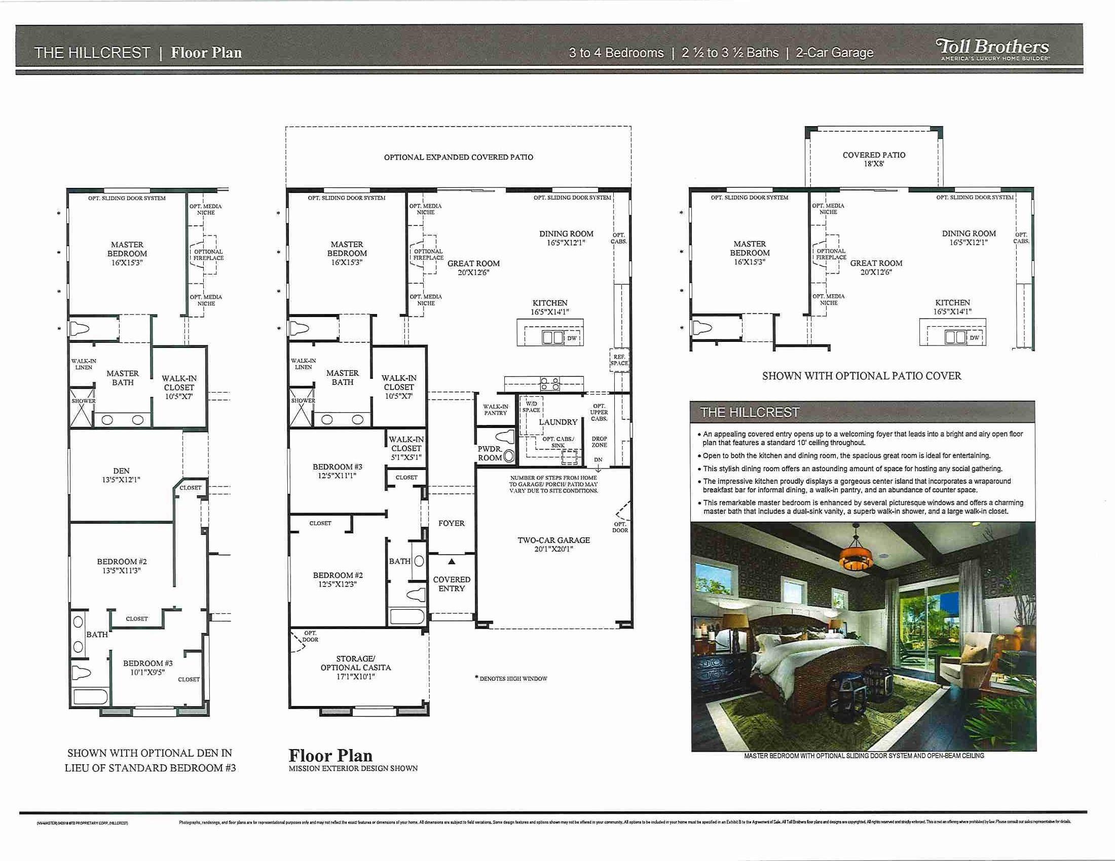 Floorplan for Hillcrest